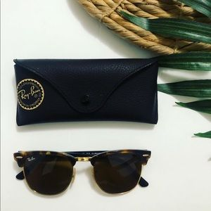 RayBan Clubmaster Sunglasses in Light Tortoise